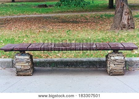 Wooden Bench for relaxing in the park