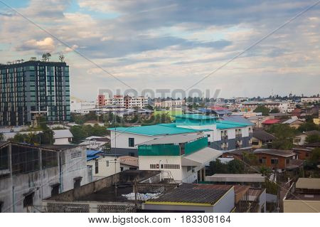 Udon Thani Cityscape From Roof