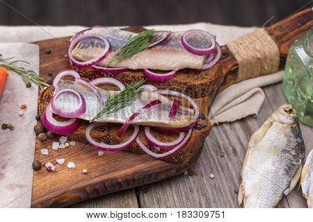 Still life - traditional Norwegian cuisine Nordic rustic
