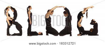Black Dressed People Forming Word Black