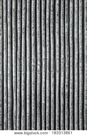 charcoal air filter, macro background