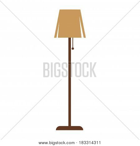 Vector illustration of minimalistic brown colored standard lamp isolated on white.