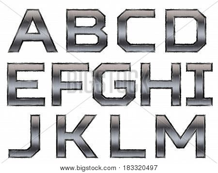 Metallic Alphabet Set