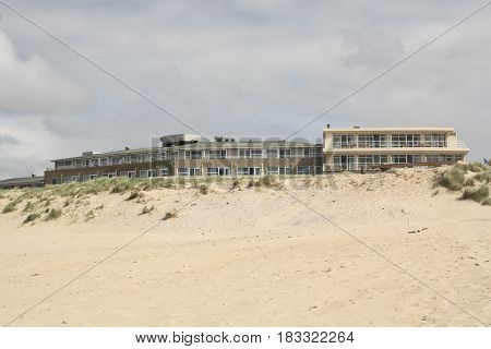 Vlieland. May-15-2016. Hotel on the beach on the island Vlieland. The Netherlands