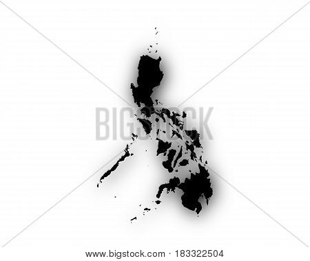 Map Of The Philippines With Shadow
