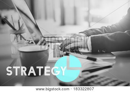 Business Marketing Planning Trategy Graph