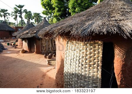 typical houses in village in Burkina Faso
