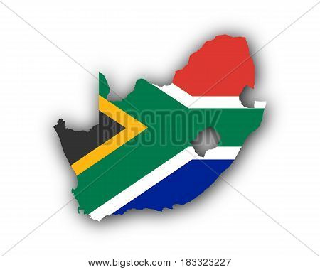 Map And Flag Of South Africa
