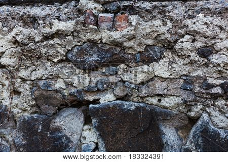 texture of old rock wall Horizontal orientation photo
