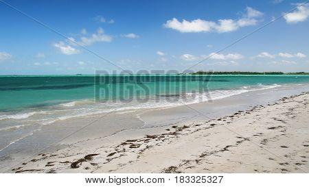 Caribbean tropical turquoise sand beach in Varadero