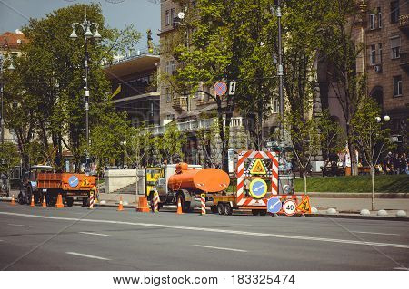 Cars Road Work