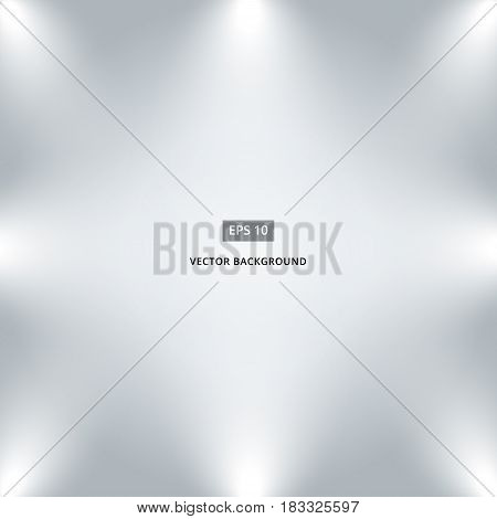 studio interior room background with spotlight background vector