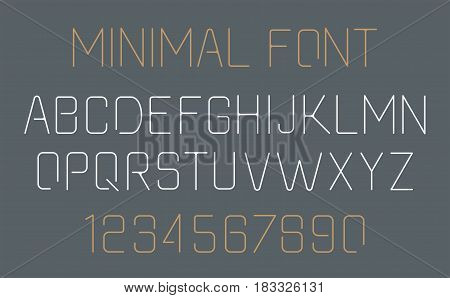 Minimalist alphabet Font design. Simple and minimalistic line style