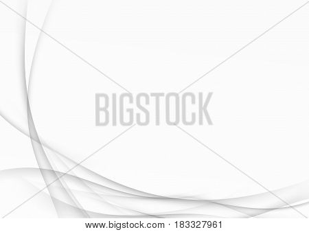 Soft futuristic abstract swoosh wave certificate layout made of modern dynamic halftone fantasy smoke motion lines. Vector illustration