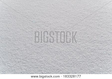 Texture of snow on the floor in Frozen Lake Baikal Russia