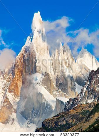 Cerro Torre In Los Glaciares National Park, Patagonia, Argentina, South America