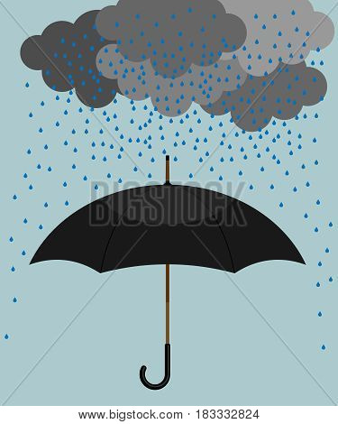 Umbrella isolated on background. Vector illustration. Eps 10.