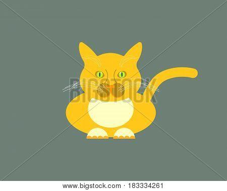 cat isolated on white background. Vector illustration. Eps 10.