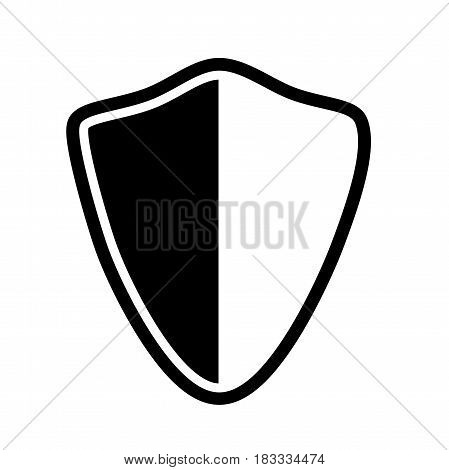 Shield icon. Isolated vector on white background.