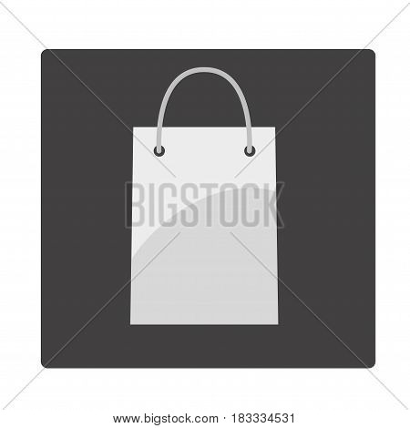 Shopping bag icon. Vector icon on grey background.