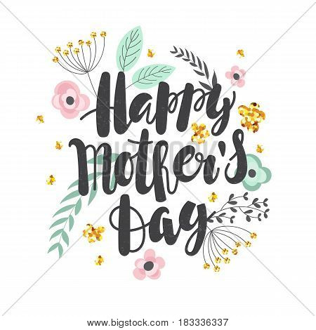 Mother's day background with hand written text