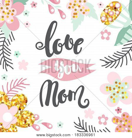 Mother day concept with hand written text