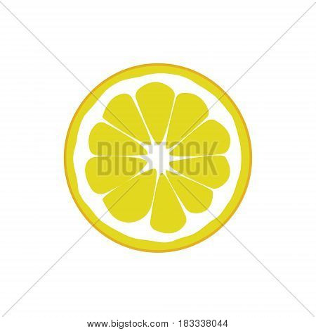 Lemon fruits isolated on white background. Vector illustration. Eps 10.