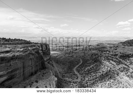 Fruita Canyon In The Colorado National Monument In Monochrome