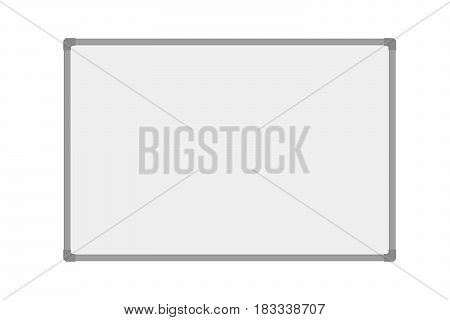 Vector realistic ilustration empty whiteboard isolated on white background