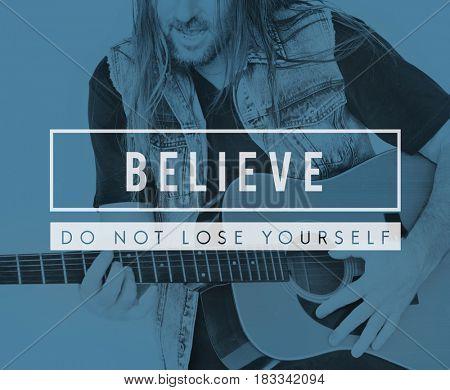 Believe Success Motivation Support Slogan