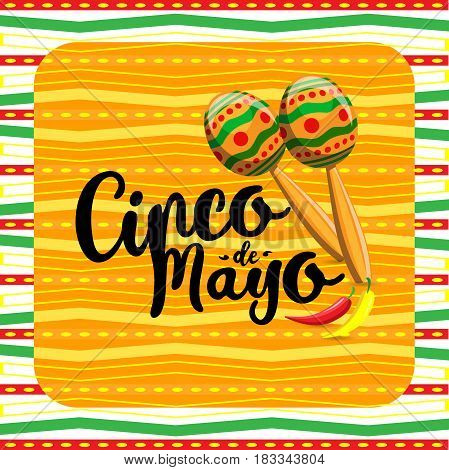 Cinco De Mayo, Mexican Fiesta Banner And Poster Design . Vector