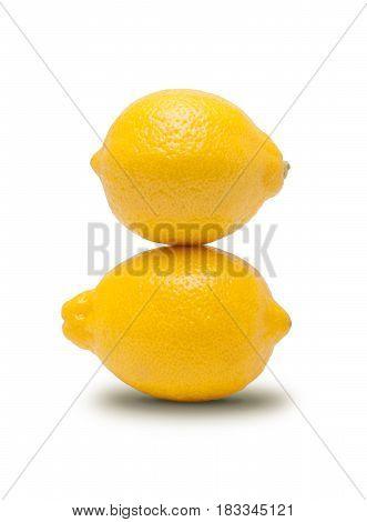 Fresh lemon isolated a on white background
