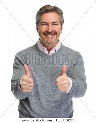 Happy man portrait