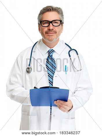Doctor pharmacist with clipboard