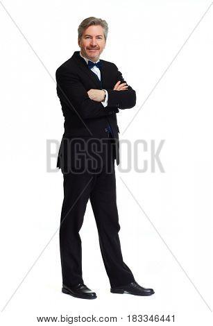 Man standing white background