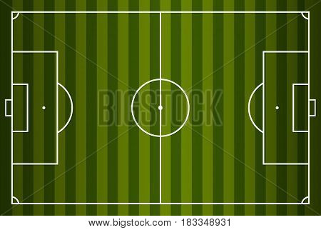 Soccer field or football field Vector illustration. Eps 10.