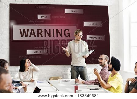 People working on network graphic overlay white board
