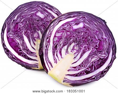 Purple cabbage slice on white background cut, red, isolated, cabage, slice, food, natural, fresh, salad,
