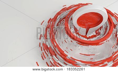 Hit The Target And Be On Top Concept Isolated On White 3D Rendering