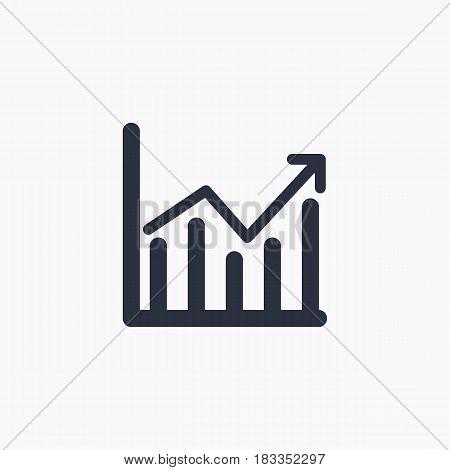 financial Histogram icon - vector eps 10