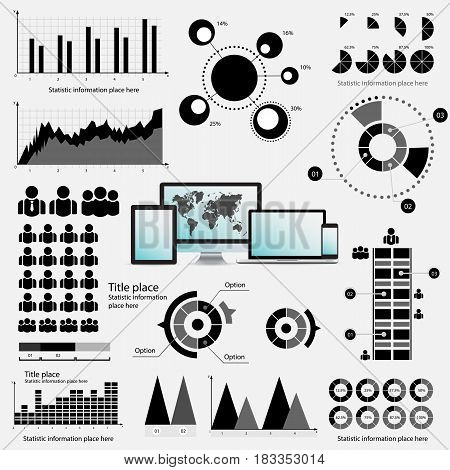 Infographic Elements - Process Infographics. Business Infographi