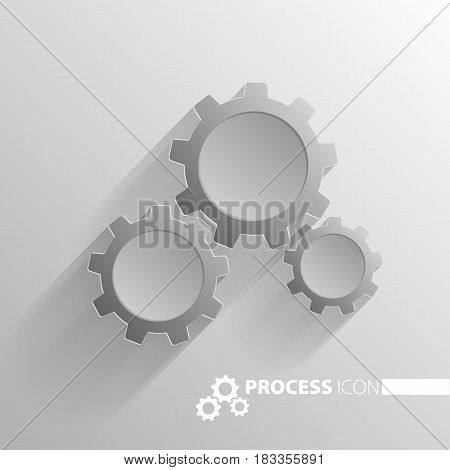 Concept Process Cogwheel Design Flat.process And Wheel, Cogwheel