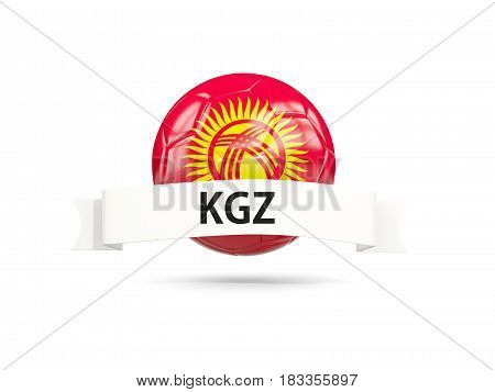 Football With Flag Of Kyrgyzstan