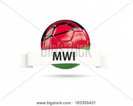 Football With Flag Of Malawi