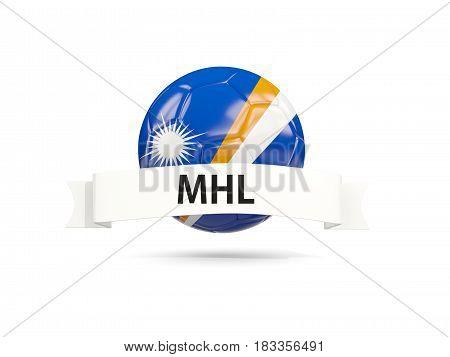 Football With Flag Of Marshall Islands