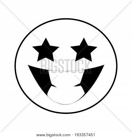 a Simple thin grin emoticon icon vector