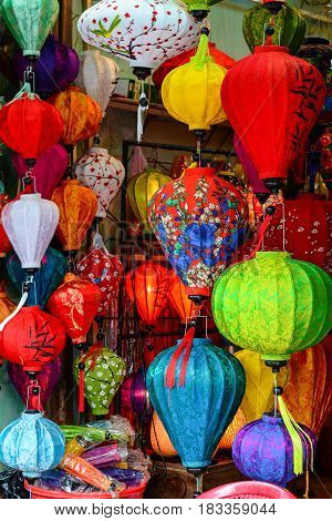 Traditional Lanterns In The Ancient Town