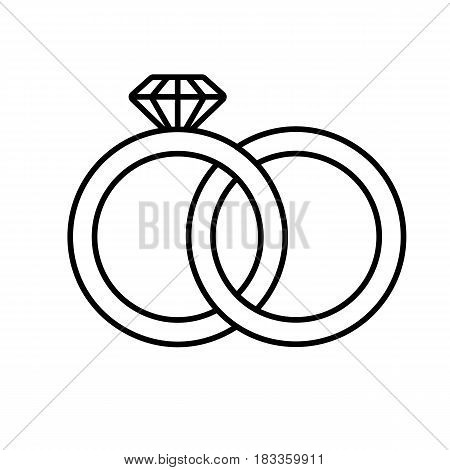 Wedding Rings Linear Icon Thin Vector Photo Bigstock