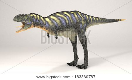 3D Computer rendering illustration of Aucasaurus green