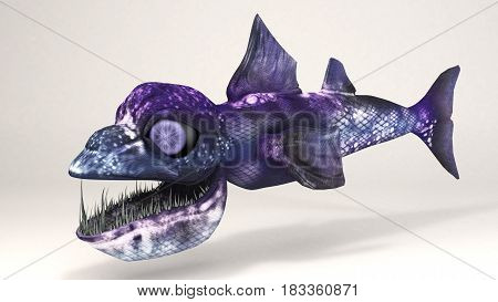 3D Computer rendering illustration of Deep-Sea Creatures fish
